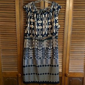 I LE New York black and beige dress size 18